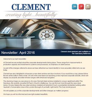 Clement Steel Windows Newsletter April 2016