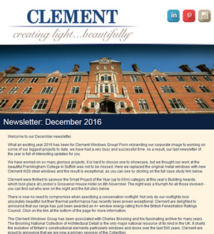Clement Windows Newsletter December 2015