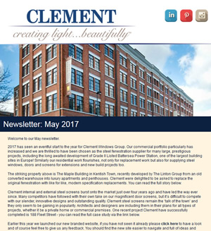 Clement Windows Newsletter May 2016