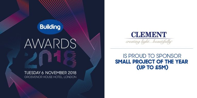 Clement Windows sponsor the Building Awards 2018