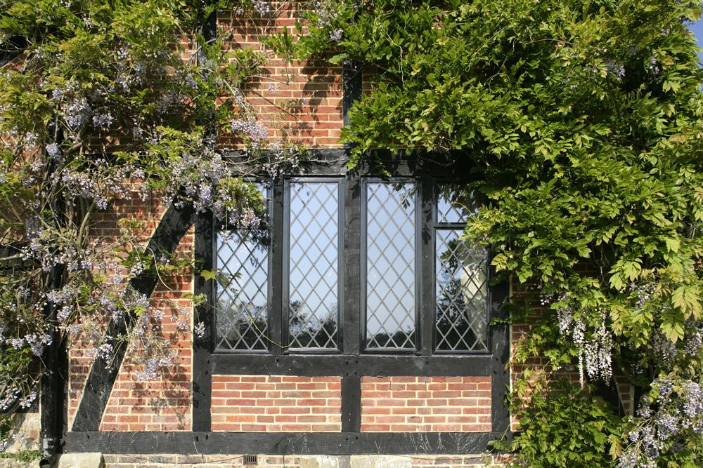 Leaded steel windows in a period property