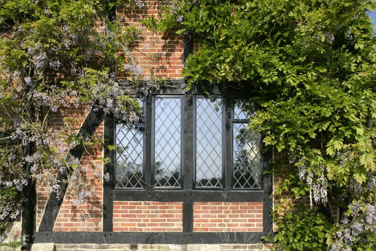 Leaded steel windows in a period property