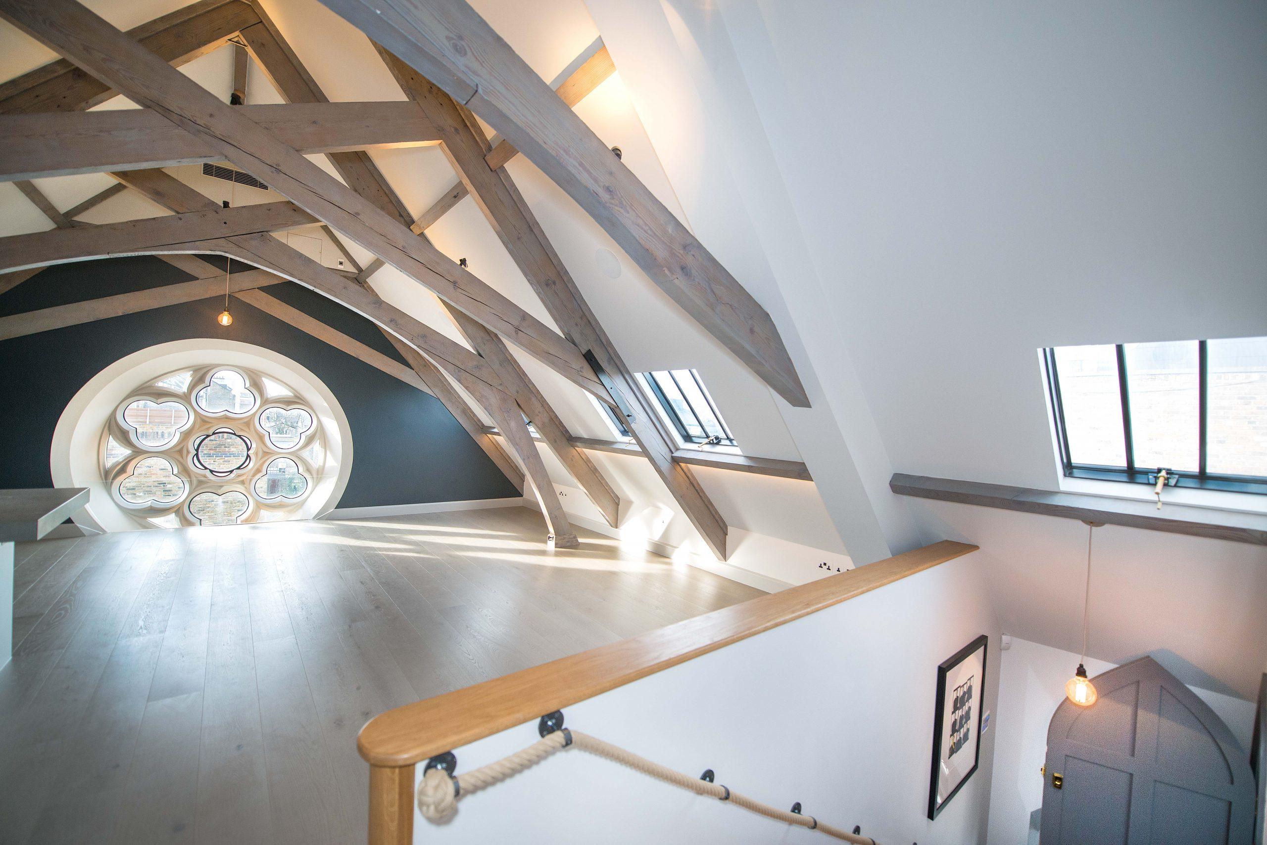 Rooflights in a loft room